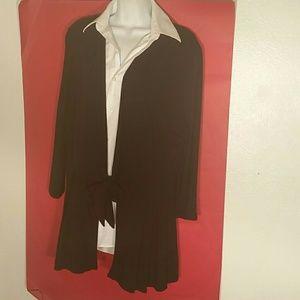 J. Jill Black Rayon Jacket. L